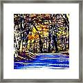 Autumn Forest Road V6 Framed Print