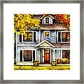 Autumn - House - Cottage  Framed Print by Mike Savad