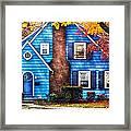 Autumn - House - Little Dream House  Framed Print