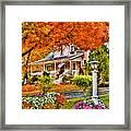 Autumn - House - The Beauty Of Autumn Framed Print