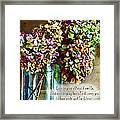 Autumn Hydrangeas Photoart With Verse Framed Print