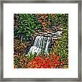 Autumn Magic Paint Framed Print