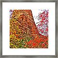 Autumn View Along Zion Canyon Scenic Drive In Zion National Park-utah Framed Print