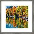 Autumn's Beauty Reflected Framed Print
