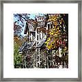 Autumn's Windows Framed Print