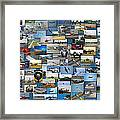 Aviation Collage Framed Print