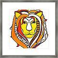 Golden Aztec Lion Framed Print