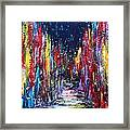 Back Street Framed Print
