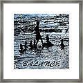 Balance And Zen Framed Print