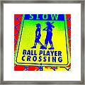 Ball Player Crossing Framed Print