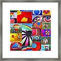 Balloon Fantasy Collage Framed Print