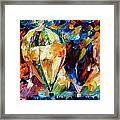 Balloon Parade - Palette Knife Oil Painting On Canvas By Leonid Afremov Framed Print
