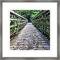Bamboo Forest Bridge Framed Print