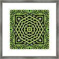Bamboo Symmetry Framed Print