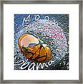 Barack Obama Moon Framed Print