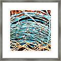 Barbed Blue Framed Print