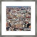 Barcelona cityscape  Framed Print