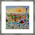 Barcelona View At Sunrise - Park Guell  Of Gaudi Framed Print