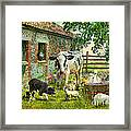 Barnyard Chatter Framed Print