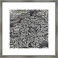 Basalt Topography Framed Print