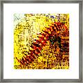 Baseball Impression Framed Print