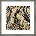 Basin Water Runoff Framed Print