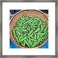 Basket Of Organic Fresh Sugar Snap Peas Art Prints Framed Print