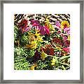 Basketful Of Flowers Framed Print