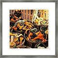 Baskets Of Gourds Framed Print