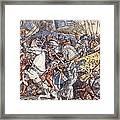 Battle Of Fornovo, Illustration Framed Print