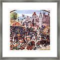 Battle Of Nevilles Cross 1346 Framed Print
