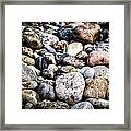 Pebbles On Beach Framed Print