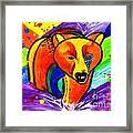 Bear Pop Art Framed Print