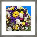 Beautiful Bouquet Of Flowers Framed Print
