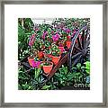 Beautiful Flower Wagon Framed Print