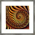 Beautiful Golden Fractal Spiral Artwork  Framed Print by Matthias Hauser