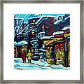 Beautiful Winter Evening Framed Print