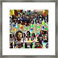 Bee Gees History Montage Framed Print