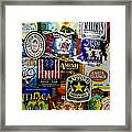 Beer Labels Framed Print by Richard Reeve