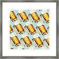 Beer Pattern Framed Print