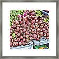 Beets At The Farmers Market Framed Print