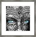 Behind Blue Eyes Framed Print