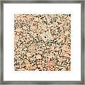 Beige Granite  Framed Print