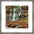 Below Ganoga Falls Framed Print