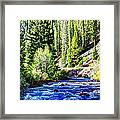 Belt Creek Framed Print