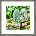Benches II Framed Print