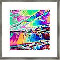 Benzoic Acid Crystals In Polarized Light Framed Print