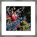 Berries And Red Leaves After The Rain Framed Print