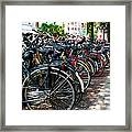 Bicycle Parking Lot Framed Print