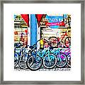 Bicycles And Chocolate Framed Print